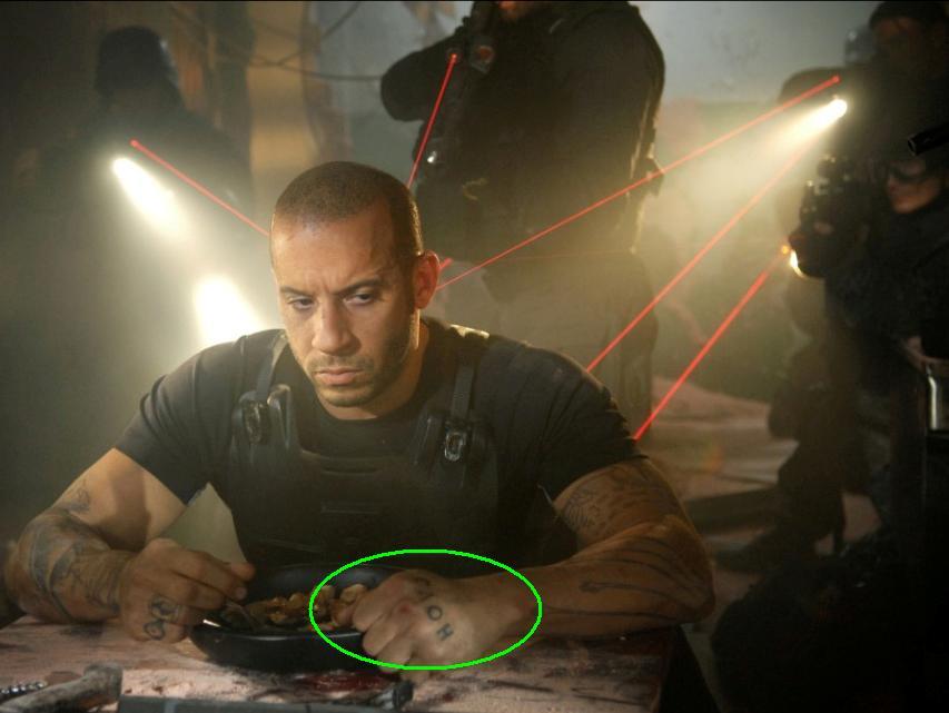 Vin Diesel Tattoos