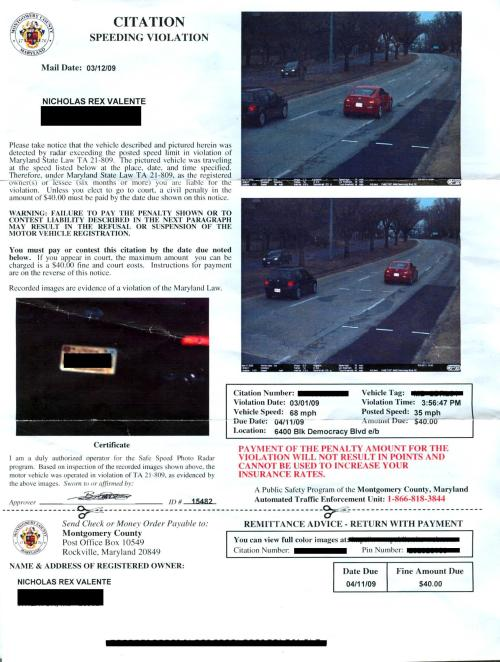 speeding camera ticket http://www.errordactyl.com